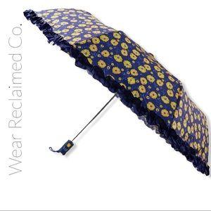 NWT SHOSHANNA Blue & Yellow Floral Ruffle Umbrella